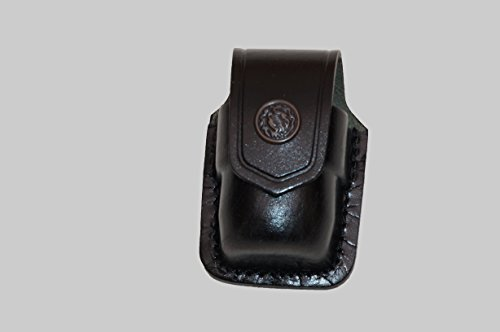 (ALISM037 Handmade Black Leather Single Speed Loader Carrier/case/Pouch Belt Clip Smith&Wesson)