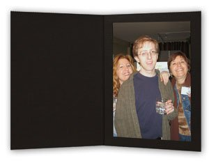 Black Waffle Cardboard Photo Folder for a 8x10 Picture - Pack of 25