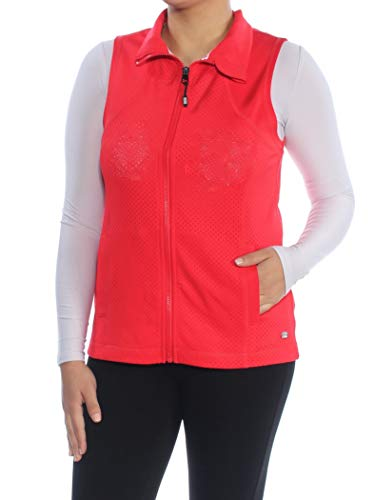 Tommy Hilfiger Women's Sport Workout Fitness Vest Red Small (Womens Hilfiger Tommy Fashion Jacket)