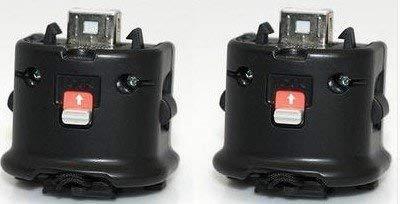 Wii Motion Plus Adapter for Original Nintendo Wii Remote Controller(black,set of 2) (Certified Refurbished)