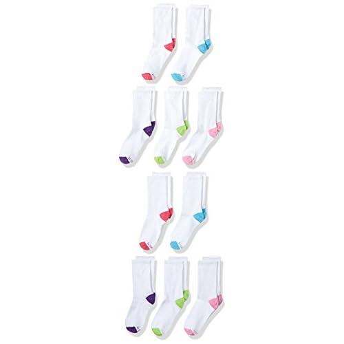Hanes Girls Crew EZ Sort Socks Assorted 10-Pack