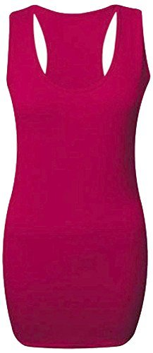 Vest Maxi Back Long Muscle Gym Top Cherry Style Sleeveless Bodycon Donna Swimmer Solid per Love X8TwPq8