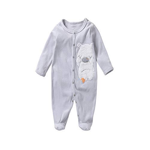 sudababy Baby Fleece Pajamas Baby Sleeper 0-3 Months Infant Boy Newborn Sleepwear 3-6 Months Footed Sleep and Play, Long Sleeve(0-3 Months(60), Grey) ...