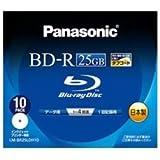パナソニック Blu-rayディスク 25GB (1層/追記型/4倍速/ワイドプリンタブル10枚) LM-BR25LDH10