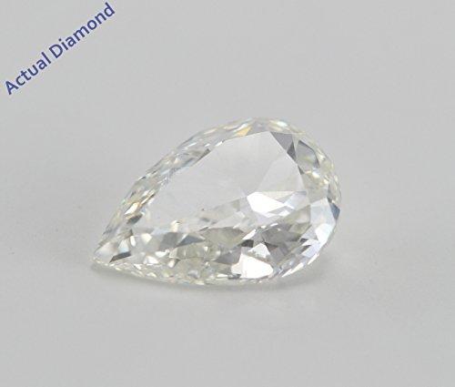 Diamant Poire taillés (1.02 Ct, I Couleur,VS2 Clarté) GIA Certifié