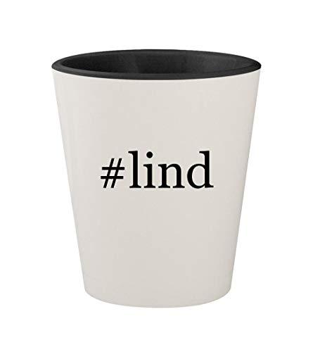 #lind - Ceramic Hashtag White Outer & Black Inner 1.5oz Shot Glass