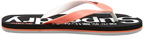 Superdry Damen Scuba Zehentrenner Multicolore (Fluro Coral/Optic/Black)