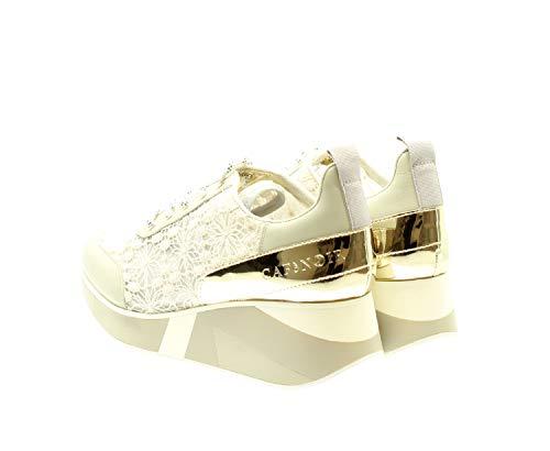 Grigio Cafènoir Con Dh423 Decorata Sneakers Zeppa Pizzo In PWzHn8