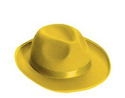 Man With Yellow Hat Costume Amazon (Forum Novelties Men's Deluxe Adult Novelty Fedora Hat, Yellow, One Size)