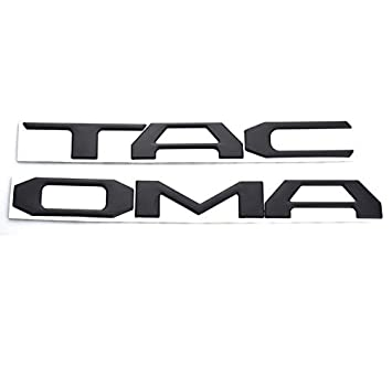 EmbRoom Tacoma Emblem Tailgate Insert Letters Decal Sticker Replacement for Toyota Tacoma 2016 2017 2018 2019 Black