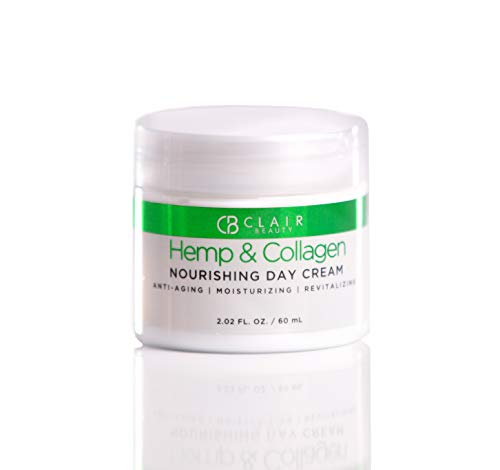 Hemp & Collagen Nourishing Day Cream - Moisturizes & Restores Skin Tone | Reduces Appearance Of Wrinkles and Fine Lines - 60mL