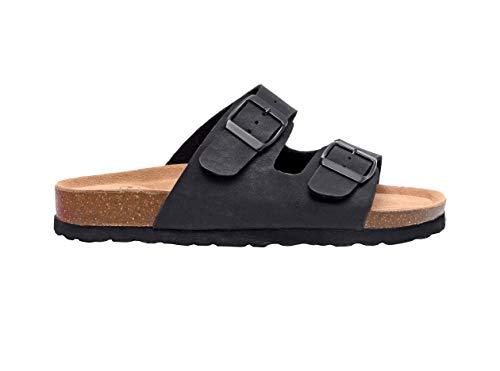 Lane Slide - CUSHIONAIRE Women's, Lane Slide Sandals Black 6 M