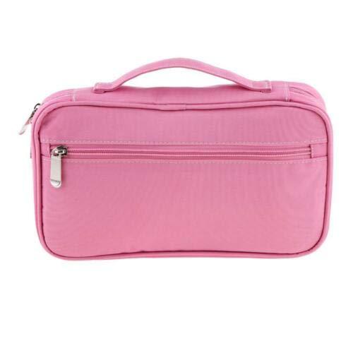 Multi-function Large Toiletry Pouch Travel Bag Makeup Brushes Holder Handbag (Color - Pink)