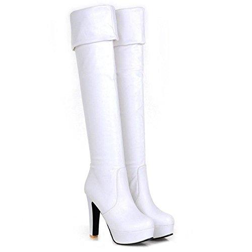 White RAZAMAZA Women On Fashion Boots Pull ZgrYZq