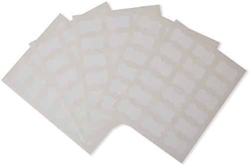 Waterproof Essential Oil Labels - 90 Scallops - Oil-Proof - Highly Durable - Strong Glue - For 10ml and Larger Bottles and Rollers