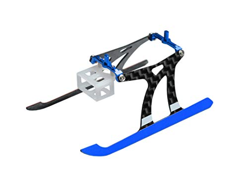 Microheli Aluminum/Carbon Fiber Landing Gear (Blue) - Blade Nano CPX/S/S2