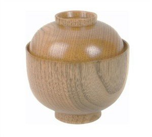 Thunder Group Japanbargain S-3362, Wooden Rice Miso Soup Bowl With Lid 45-35