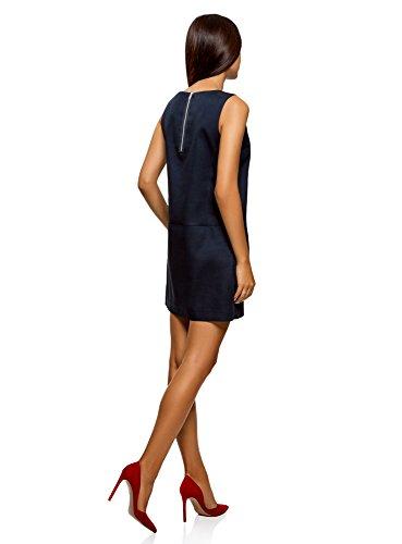 Robe Bleu oodji Coton en sans Femme Manches 7900n Ultra Dense vqHH8Ew