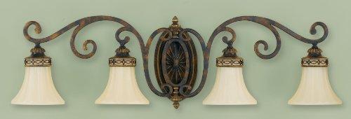Sea Gull Lighting VS11204-WAL Drawing Room Four Light Vanity Fixture, 4, Walnut