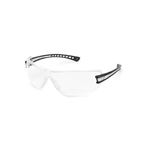 Luminary Glass (Luminary Safety Glasses, Black Temple, Clear Inset, Clear Lens, 19GB80)