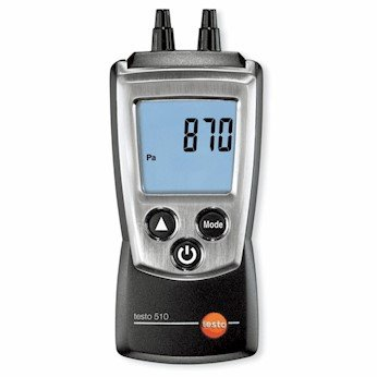 Testo 0560 0511 Digital Manometer 120.4 to 481.8 in H2O