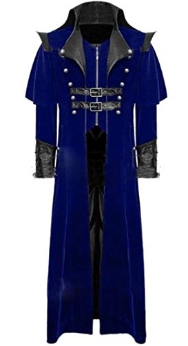 WSPLYSPJY Mens Gothic Cool Belts Long Cloak Coat Steampunk for sale  Delivered anywhere in Canada