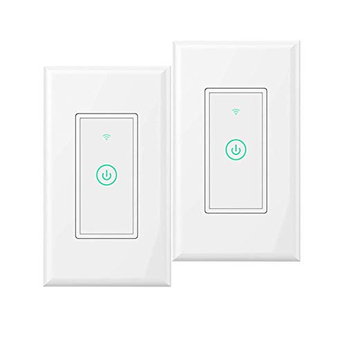 Switch Timer Automatic (Smart-Wall-Switch Smart-WiFi-Switch, Meross Remote Control and Timer switches Compatible with Alexa/Google Assistant/IFTTT Fit for US/CA Wall Switches No Hub Needed(2 Packs))