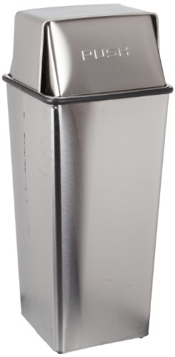 (Witt Industries 36HTSS Stainless Steel 36-Gallon Waste Watcher Hamper and Push Top Receptacle, Legend
