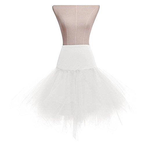 [MsJune Women's 1950 Vintage Petticoats Crinolines Tutu Dance Slip Prom Party Skirt] (80s Formal Costume)