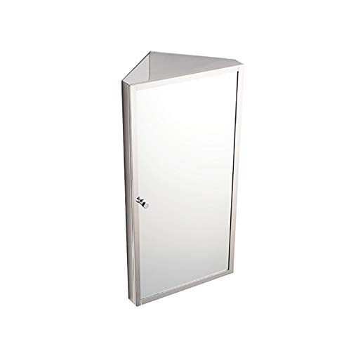 Stainless Steel Corner Bathroom Mirror Cabinet Triangle Locker Wall Cabinet Multipurpose Kitchen -