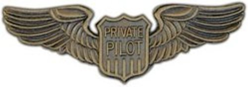 Large Private Pilot Badge Wings