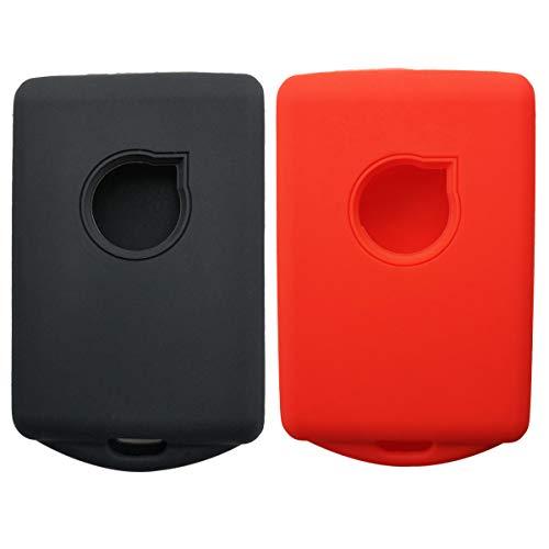 (Coolbestda 2Pcs Silicone Key Fob Remote Protector Keyless Case Entry Skin Jacket for 2018 2017 Volvo XC90 XC70 S60 S80 S90 C30 V70 V90 YGOHUF8423)