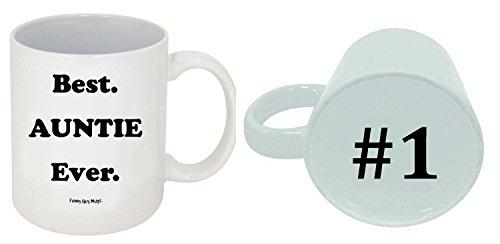 Funny Guy Mugs Best Auntie Ever Ceramic Coffee Mug, White, 11-Ounce
