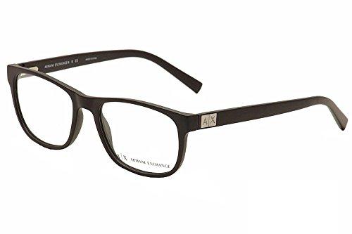 Armani Exchange AX3034 Eyeglass Frames 8078-54 - Matte Black AX3034-8078-54