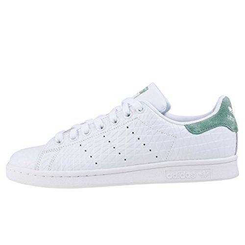 Adidas Originali Donna Stan Smith W Fashion Sneaker Bianco / Bianco / Verde Traccia