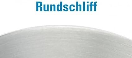 einseitig geschliffen mit Rundschliff Ankerplatte /ø 120mm mit Fase St/ärke 6mm