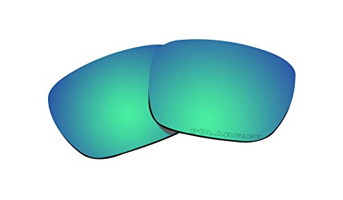 (Polarized Lenses Replacement for Oakley Holbrook Sunglasses Lenses (Emerald Green Mirror Coatings))
