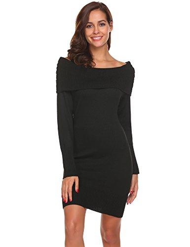 Knit Sweater Mini Dress - 6