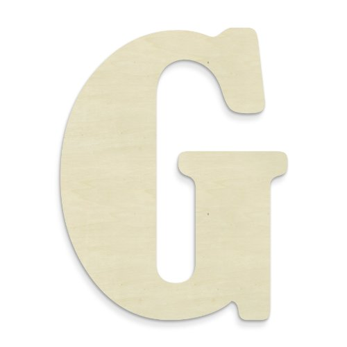 UNFINISHEDWOODCO 23-Inch Unfinished Wood Letter, Large, Letter G]()