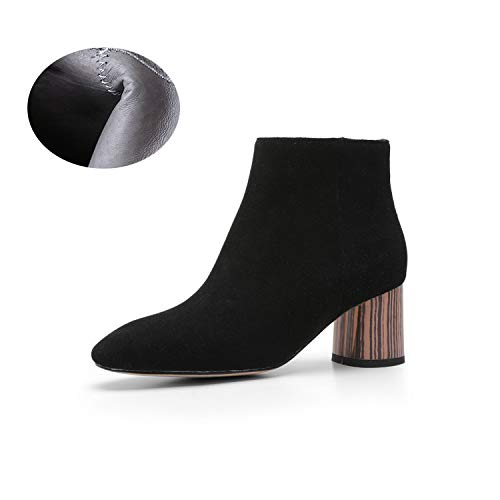A Women's Fashion shoes Suede Fall & Winter Booties Fashion Frosted Martin Boots Ankle Boots Wedding Party & Evening (color   D, Size   38)