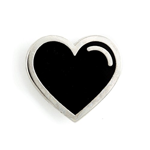 These Are Things Black Heart Enamel - Black Enamel Heart