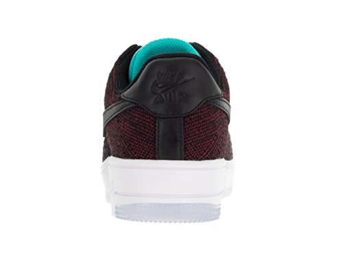 Femmes Nike Af1 Flyknit Bas Gymnase De Chaussures Casual Rouge / Bleu Royal Profond Blanc