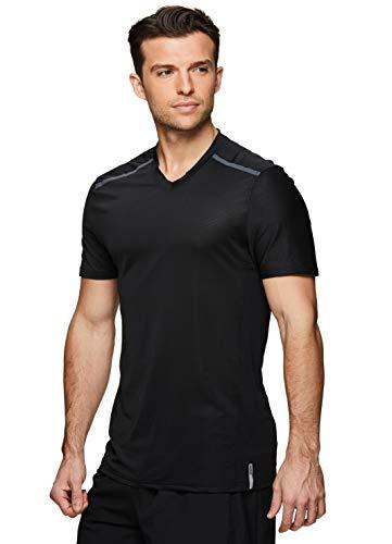 Colorblock Square - RBX Active Men's Colorblock V-Neck Performance Gym T-Shirt S-19 Black M