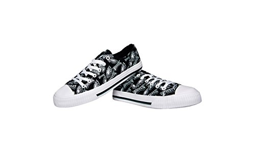 cb262f9daaea4b Philadelphia Eagles Shoes. FOCO NFL Womens Low Top Repeat Print Canvas ...