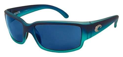 Costa Cat Cay Sunglasses Matte Caribbean Fade Blue Mirror
