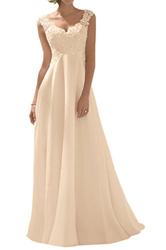 MILANO BRIDE Cheap Wedding Party Dress Prom Gown Drape V Neck Empire Waist Lace 22W Light Champagne