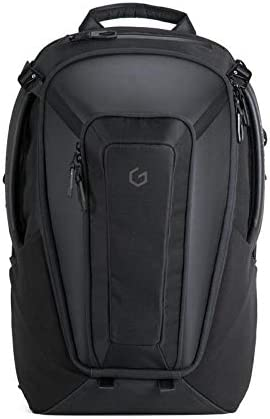 Carry Professional Laptop Backpack 17 Inch Hard Shell Protection Gaming Computer Bag Cool Looking Water-repellent for Work Business School College Riding Travel Men Women-Black