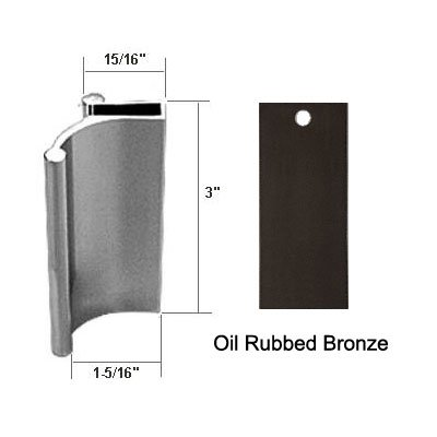 (Oil Rubbed Bronze Tub Enclosure and Sliding Shower Door Pull Handle)