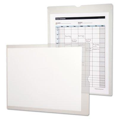 Utili-Jacs Heavy-Duty Clear Plastic Envelopes, 9 x 12, 50/Box, Sold as 1 Box