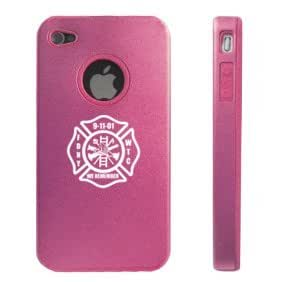 Apple iPhone 4 4S 4 Pink D5071 Aluminum & Silicone Case Cover FDNY Remember 9/11
